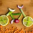 Healthy lifestyle concept - vegetable bike — Stock Photo