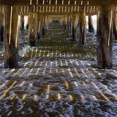 Stare molo morze — Zdjęcie stockowe
