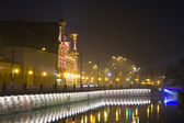 Wroclaw in the night, Poland — Stock Photo