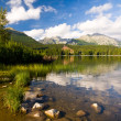 Strbske Pleso, lake in Slovakia in High Tatras — Foto de Stock