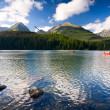 Strbske Pleso, lake in Slovakia in High Tatras — Foto Stock