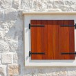Windows and shutters, Maslinica, Solta Island, Croatia — Foto de Stock