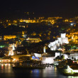 A panorama of Dubrovnik by night, Croatia  — Stock Photo