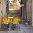 Stock Photo: Outdoor Restaurant in Dubrovnik, Croatia