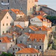 Dubrovnik Old Town roofs at sunse - Foto Stock