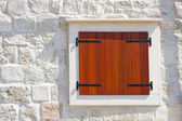 Windows and shutters, Maslinica, Solta Island, Croatia — Stock Photo
