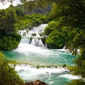 Waterfalls in Krka National Park, Croatia — Stock Photo