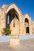 Romanic basilica ruins, old town of Rhodes, Greece — Stock Photo