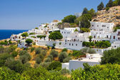 View at Lindos, Rhodes island, Greece — Stock Photo