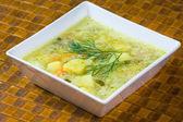 Polish cucumber soup — Stock Photo