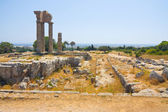Acropolis of Rhodes at Monte Smith on the Island of Rhodes Greece. — Stock Photo
