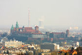 Cracow panorama with Wawel castle — Stock Photo