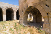 Multiple arches and columns in the caravansary on the Silk Road, Turkey — Stock Photo
