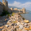 Maumere fortress and sea near Anamur, Turkey - Stock Photo