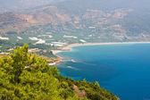 Turquoise coast of Turkey near Alanya — Stock Photo