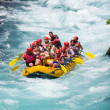 Stock Photo: GREEN CANYON, TURKEY - JULY 10: Unidentified persons enjoy day of whitewater rafting on July 10, 2009 on Manavgat River in Turkey.