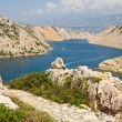 Maslenica Strait of the Adriatic Sea, north of Zadar, Croatia - Stock Photo