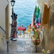 Narrow stone street of Rovinj, Croatia — Stock Photo