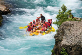 GREEN CANYON, TURKEY - JULY 10: Unidentified persons enjoy a day of whitewater rafting on July 10, 2009 on the Manavgat River in Turkey. — Stock Photo