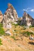 Ortahisar cave city in Capapdocia, Turkey — Stock Photo