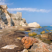 Maumere fortress and sea near Anamur, Turkey — Stock Photo