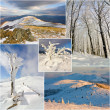 Winter mountains landscape, collage — Stock Photo