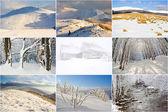 Winterlandschaft berge, collage — Stockfoto