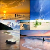Baltic Sea, Poland, collage — Stock Photo