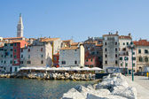 Architecture of Rovinj, Croatia. Istria touristic attraction — Stock Photo