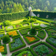 Maze garden in Pieskowa Skala castle near Krakow - Stock Photo