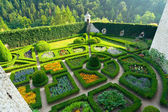 Maze garden in Pieskowa Skala castle near Krakow — Stock Photo