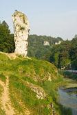 Rock called Maczuga Herkulesa in National Ojcow Park, Poland — Stock Photo