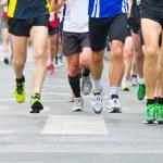 Running in city marathon — Stock Photo #24844483