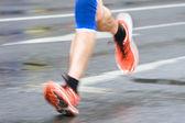 Muž v městě maraton — Stock fotografie