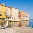 Architecture of Rovinj, Croatia. Istria touristic attraction — Foto de Stock
