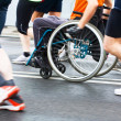 Disabled athlete in a sport wheelchair — Stok fotoğraf