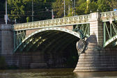 Prague - The Svatopluk Cech Bridge, detail — Stock Photo