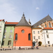 KRAKOW, POLAND - APRIL 11 2013: The Small Market Square in Cracow is the most important square of the Old Town in Cracow, Krakow, Poland April 11 2013 — Stock Photo #25099203