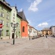 KRAKOW, POLAND - APRIL 11 2013: The Small Market Square in Cracow is the most important square of the Old Town in Cracow, Krakow, Poland April 11 2013 — Stock Photo #25099225