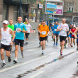KRAKOW, POLAND - APRIL 28 : CracoviMarathon. Runners on city streets on April 28, 2013 in Krakow, POLAND — Stock Photo #25099717