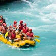 GREEN CANYON, TURKEY - JULY 10, 2010: White water rafting on the rapids of river Manavgat on July 10, 2009 in Green Canyon, Turkey. Manavgat River is one of the most popular among rafters in Turkey. — Stock Photo #25100077