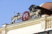 Smetana Museum, Old Town Water Tower, view from Vltava river, Prague, Czech Republic — Stock Photo