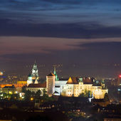 Night scene in Krakow, Poland — Stock Photo