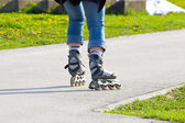 Skating on the rollerblades — Stock Photo