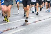 В городе марафон — Стоковое фото
