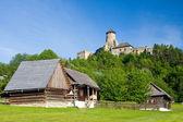 Stara Lubovna Castle and an open air folk museum, Slovakia — Stock Photo