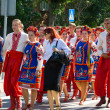 "LOCHOW, POLAND -JUNE 25, 2011: International Folklore Meetings ""Kupalnocka"" is festival, which is listed in calendar of cultural events Mazovias colorful artists and public meetings devote — Foto de stock #27249313"