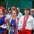 """LOCHOW, POLAND -JUNE 25, 2011: The International Folklore Meetings """"Kupalnocka"""" is a festival, which is listed in the calendar of cultural events Mazovia as colorful artists and public meetings devote — Stock Photo #27249409"""