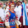 "Stock Photo: LOCHOW, POLAND -JUNE 25, 2011: The International Folklore Meetings ""Kupalnocka"" is a festival, which is listed in the calendar of cultural events Mazovia as colorful artists and public meetings devote"