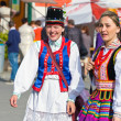 """LOCHOW, POLAND -JUNE 25, 2011: The International Folklore Meetings """"Kupalnocka"""" is a festival, which is listed in the calendar of cultural events Mazovia as colorful artists and public meetings devote — Stock Photo #27249487"""